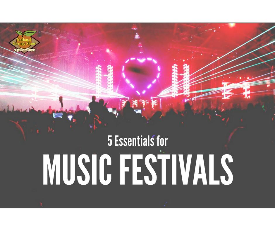 5 Essentials for Music Festivals